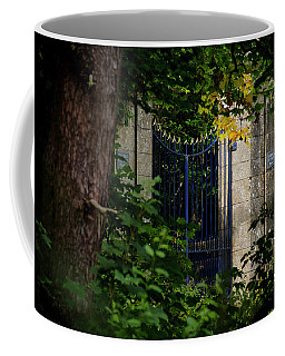 Coffee Mug featuring the photograph The Gate by Jeremy Lavender Photography