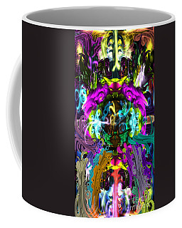 Coffee Mug featuring the digital art The Gate  by Reed Novotny