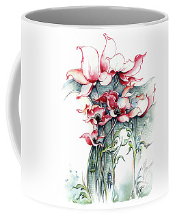 Coffee Mug featuring the painting The Gateway To Imagination by Anna Ewa Miarczynska