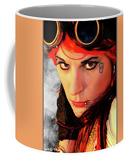 The Gaze Of Steam Punk Vixen Coffee Mug