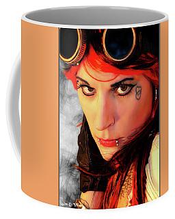 The Gaze Of Steam Punk Vixen Coffee Mug