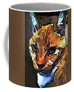 The Gaze Of The Gold Cat Coffee Mug