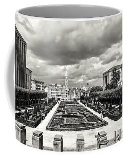 The Geometric Garden In Black And White Coffee Mug