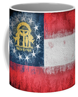 Coffee Mug featuring the photograph The Georgia Flag by JC Findley