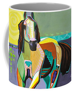 Coffee Mug featuring the painting The Gift by Frances Marino