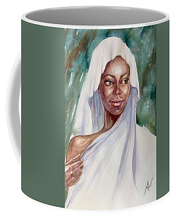 The Girl With The White Scarf Coffee Mug