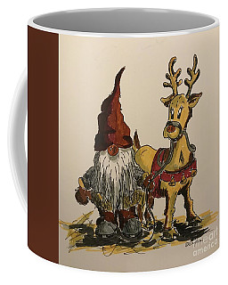 The Gnome And His Reindeer Coffee Mug