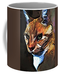 The Gold Cat With The Stage Presence Coffee Mug