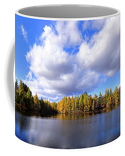 Coffee Mug featuring the photograph The Golden Forest At Woodcraft by David Patterson