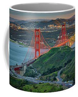 The Golden Gate At Sunset Coffee Mug