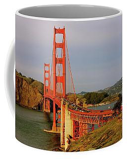 The Famous Golden Gate Bridge In San Francisco California Coffee Mug by Lorna Maza