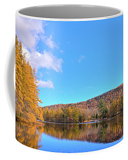 Coffee Mug featuring the photograph The Golden Tamaracks Of Woodcraft Camp by David Patterson