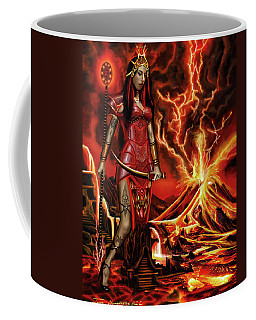 Coffee Mug featuring the painting The Goodess Pele Of Hawaii by James Christopher Hill