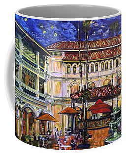 The Grand Dame's Courtyard Cafe  Coffee Mug by Belinda Low