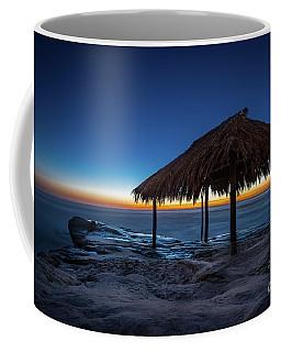 The Grass Shack At Windansea At Sunset Coffee Mug