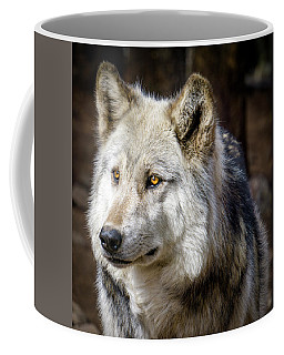The Gray Wolf Coffee Mug by Teri Virbickis
