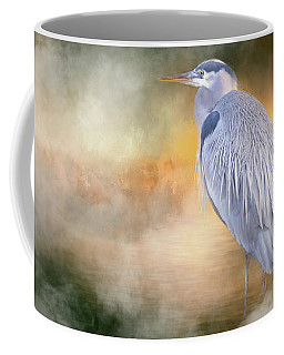 Coffee Mug featuring the photograph The Great Blue Heron by Jacqui Boonstra