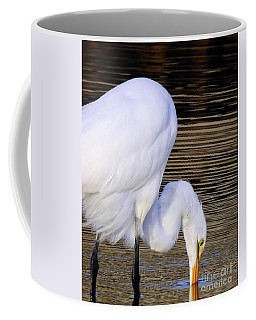 The Great Egret   Coffee Mug