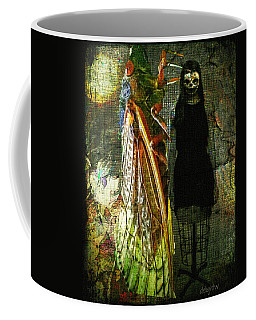 Coffee Mug featuring the digital art The Great Escape by Delight Worthyn