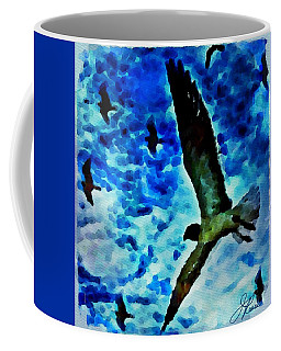 Coffee Mug featuring the painting The Great Seagull by Joan Reese
