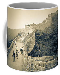 Coffee Mug featuring the photograph The Great Wall Of China by Heiko Koehrer-Wagner