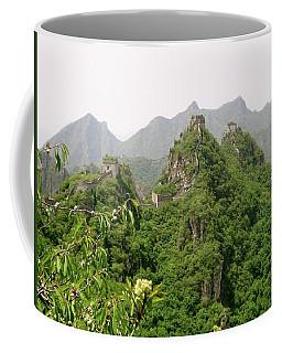 The Great Wall Of China Winding Over Mountains Coffee Mug