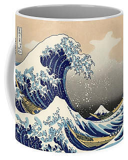 The Great Wave Off Kanagawa Coffee Mug by Katsushika Hokusai
