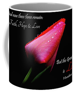 The Greatest Of These Is Love Coffee Mug by Trina Ansel