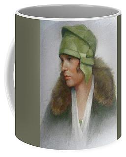 The Green Hat Coffee Mug by Janet McGrath