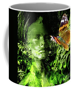 Coffee Mug featuring the photograph The Green Man by LemonArt Photography