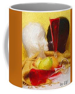 Coffee Mug featuring the digital art The Green Pear by Elf Evans