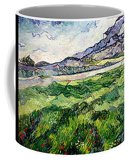 The Green Wheatfield Behind The Asylum Coffee Mug