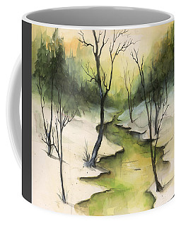 Coffee Mug featuring the painting The Greenwood by Terry Webb Harshman