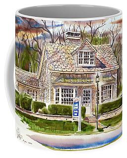 Coffee Mug featuring the painting The Greystone Inn In Brigadoon by Kip DeVore