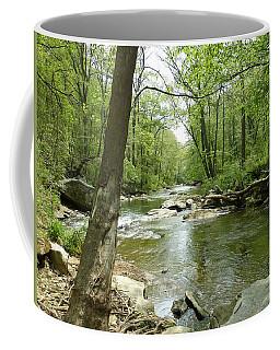 Coffee Mug featuring the photograph The Gunpowder Falls - Downstream by Donald C Morgan
