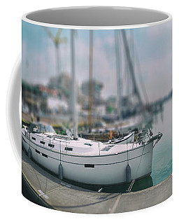 Coffee Mug featuring the photograph the Hague local harbor by Ariadna De Raadt