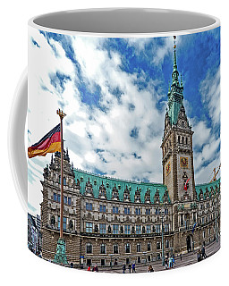 The Hamburg Rathaus Coffee Mug by Pravine Chester