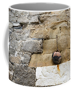 The Hanging Jar - Rough Weathered Stones Rust And Ceramics Coffee Mug