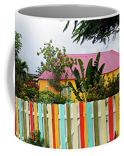 Coffee Mug featuring the photograph The Happy House, Island Of Curacao by Kurt Van Wagner