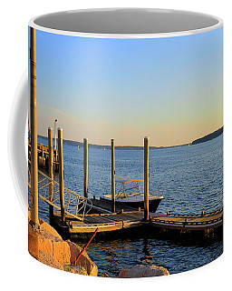 Coffee Mug featuring the photograph The Harbor Bristol Rhode Island by Tom Prendergast