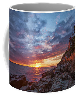The Harbor Dusk  Iv Coffee Mug