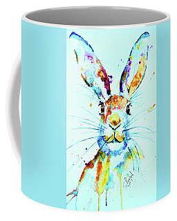 Coffee Mug featuring the painting The Hare by Steven Ponsford