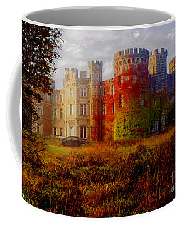 Coffee Mug featuring the digital art The Haunted Castle by Michael Rucker