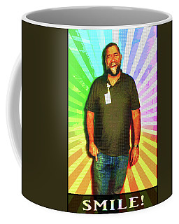 Coffee Mug featuring the mixed media The Healing Smile Mosaic by Shawn Dall