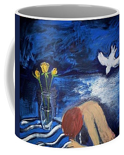 Coffee Mug featuring the painting The Healing by Winsome Gunning