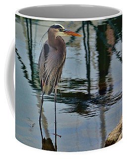 Coffee Mug featuring the photograph The Heron's Brother by Diana Mary Sharpton