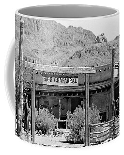 The High Chaparral Set With Sign Old Tucson Arizona 1969-2016 Coffee Mug