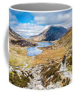 Coffee Mug featuring the photograph The Hike Back Down by Nick Bywater