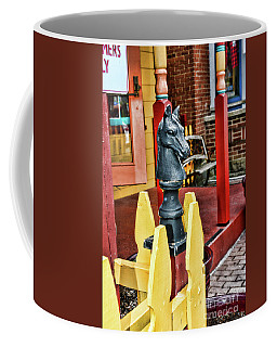 Coffee Mug featuring the photograph The Hitching Post by Paul Ward