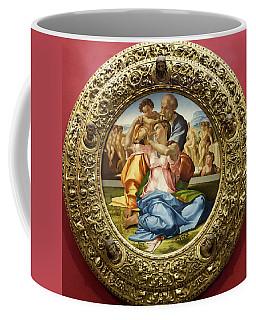 The Holy Family - Doni Tondo - Michelangelo - Round Canvas Version Coffee Mug